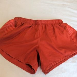 Oiselle Orange Distance Shorts